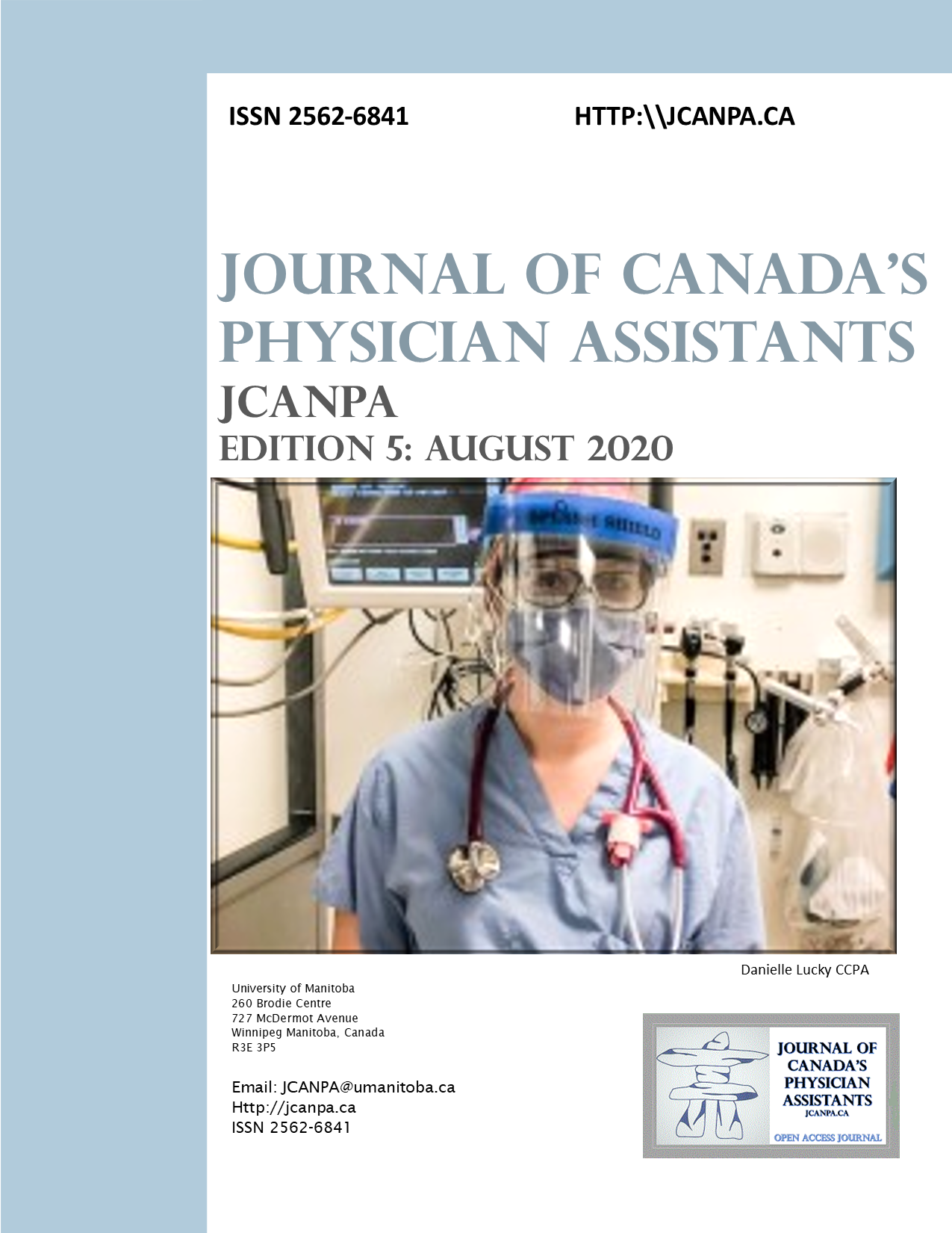 View Vol. 1 No. 5 (2020): The Journal of Canada's Physician Assistants (http://JCANPA.ca)